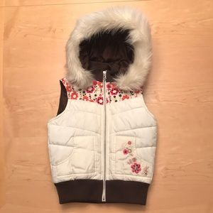 Justice Vest with Fur Hood for Girls Sz S/10
